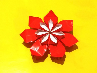 Amazing origami flower. Dairy decor flower. Christmas ornaments