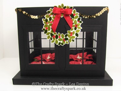 Christmas Table Centrepiece with Poinsettia Stampin' Up! UK Part 1 of 2