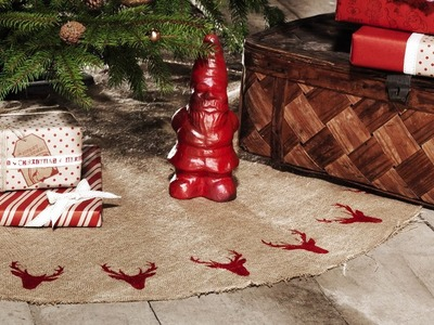 DIY by Panduro Rustic Christmas tree mat