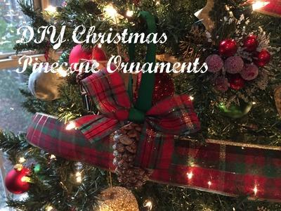 DIY Christmas Tree Pinecone Ornament Tutorial