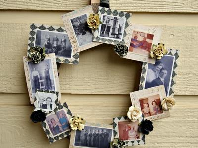 DIY Family Tree Photo Wreath Tutorial