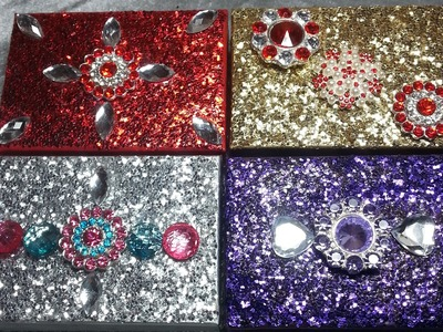 DIY~Gorgeous & Inexpensive No Shed Glitter Trinket Boxes!