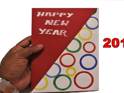 DIY - How to make a New year Greeting Card - 2016 | Christmas Greeting Card | (Project for Kids)