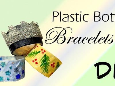 DIY Plastic Bottle Bracelets | Cheap Christmas Party Jewelry Idea | By Fluffy Hedgehog