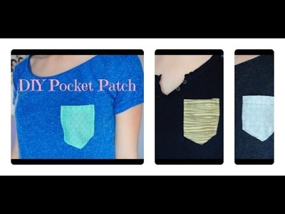 DIY Pocket Patch (sewing and no sew method!)