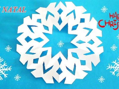 DIY saiba como fazer flocos de neve de natal - know how to make Christmas snowflakes