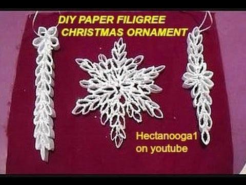 DIY- SNOWFLAKE, PAPER FILIGREE CHRISTMAS ORNAMENT, paper ornament, paper crafts,