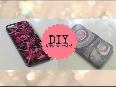 DIY: Splatter and Marble iPhone Cases