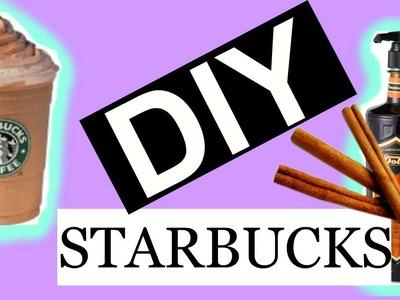 DIY STARBUCKS: CINNAMON DOLCE SYRUP & FRAPPUCCINO