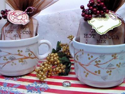 DIY Winter Serving Tray & Mug Holiday Gift Set!
