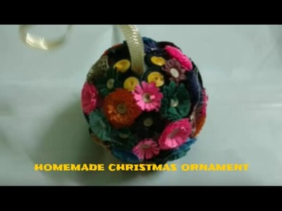 Homemade X-mas Craft Ornament With Paper Quilled Flowers