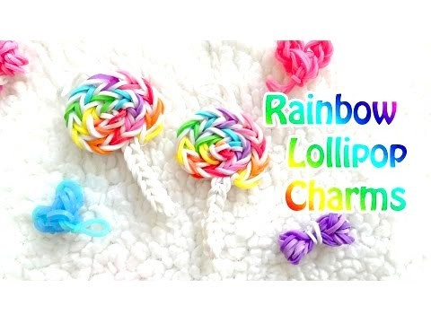 "How to Make DIY (Amigurumi) ""New 3D Lollipop Candy "" from Rainbow Loom. Hook only"