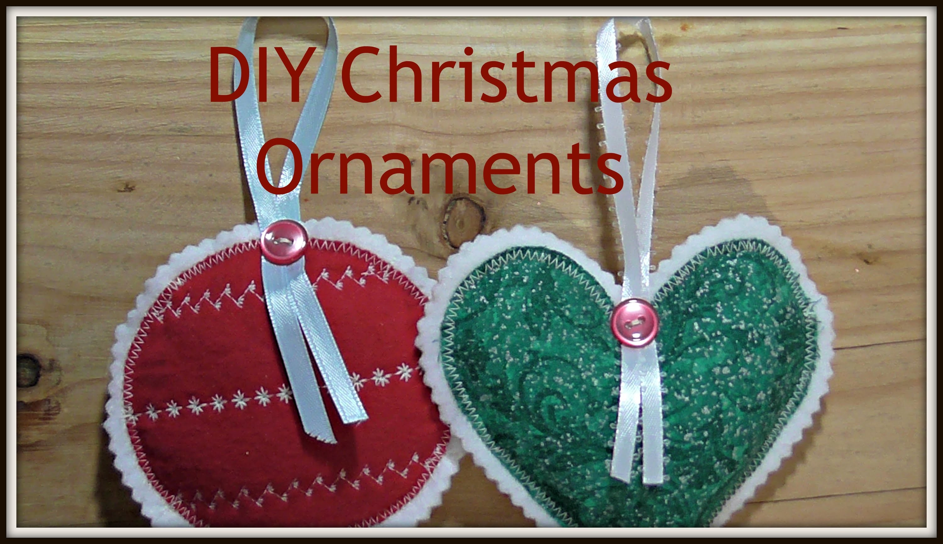 How to Sew Fabric Christmas Ornaments