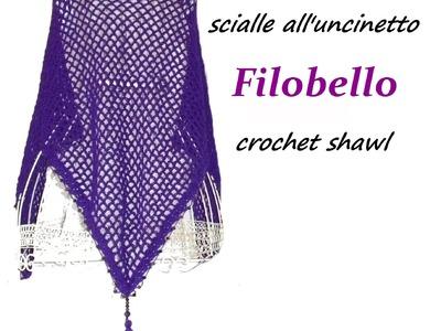 Lilla's tutorials: scialle filobello crochet. Filobello crochet shawl