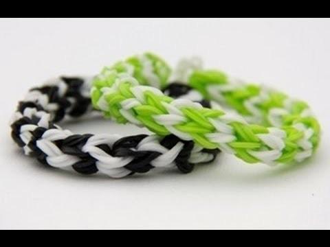 Loom bands designs - Rainbow Loom,Braid armband