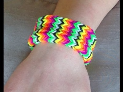 Loom Bands | Rainbow Loom Bracelet | How to Make a Rainbow Loom Starburst Bracelet DIY