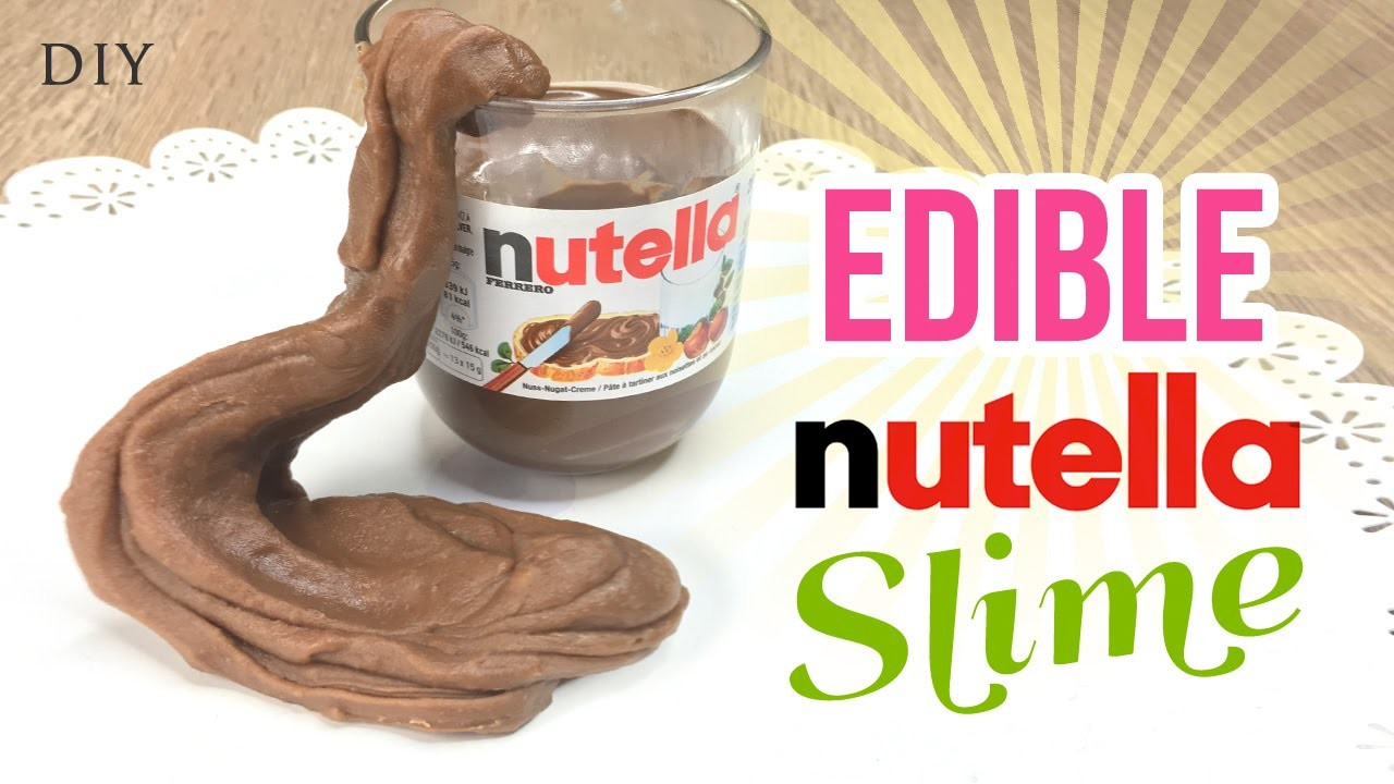 Make EDIBLE Nutella Slime!!! Delicious & Easy DIY Slime.Playdough Recipe with Just 3 Ingredients!