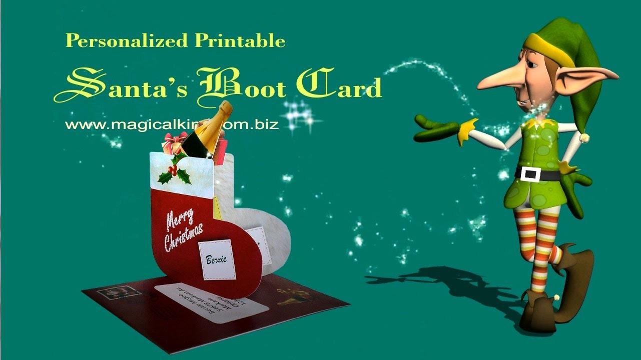 Making a Santa's Boot Christmas Card