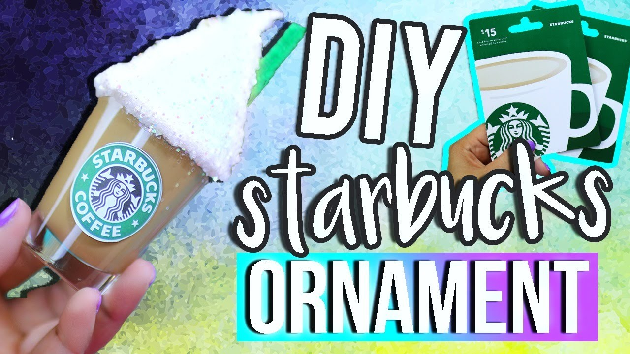MINI STARBUCKS ORNAMENT ♥ DIY Holiday Gift Ideas for Christmas!