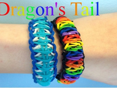 NEW Dragon Tail Bracelet Rainbow Loom Tutorial - How To