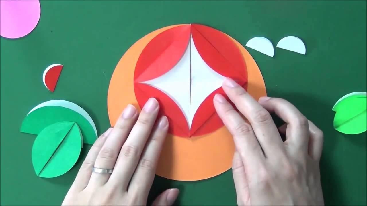 Origami Morning glory  Round
