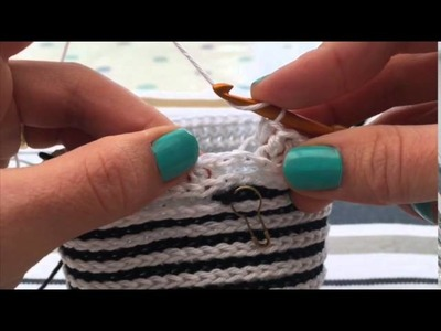 Overlay Crochet Stripe On Third Loop Half Treble