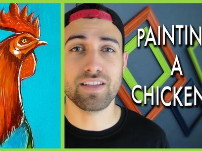 Painting a Rooster (Christmas Gift)