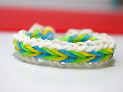 Rainbow Loom Fishtail with single chain border without loom netherlands Bracelet DIY