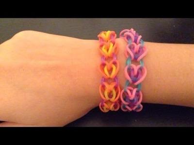 Rainbow Loom: Heart Link (with hook)