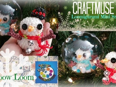 Rainbow Loom Loomigurumi Mini Snowman Ornament