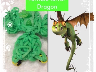 Rainbow loom terrible terror dragon charm-how to train your dragon(original design)