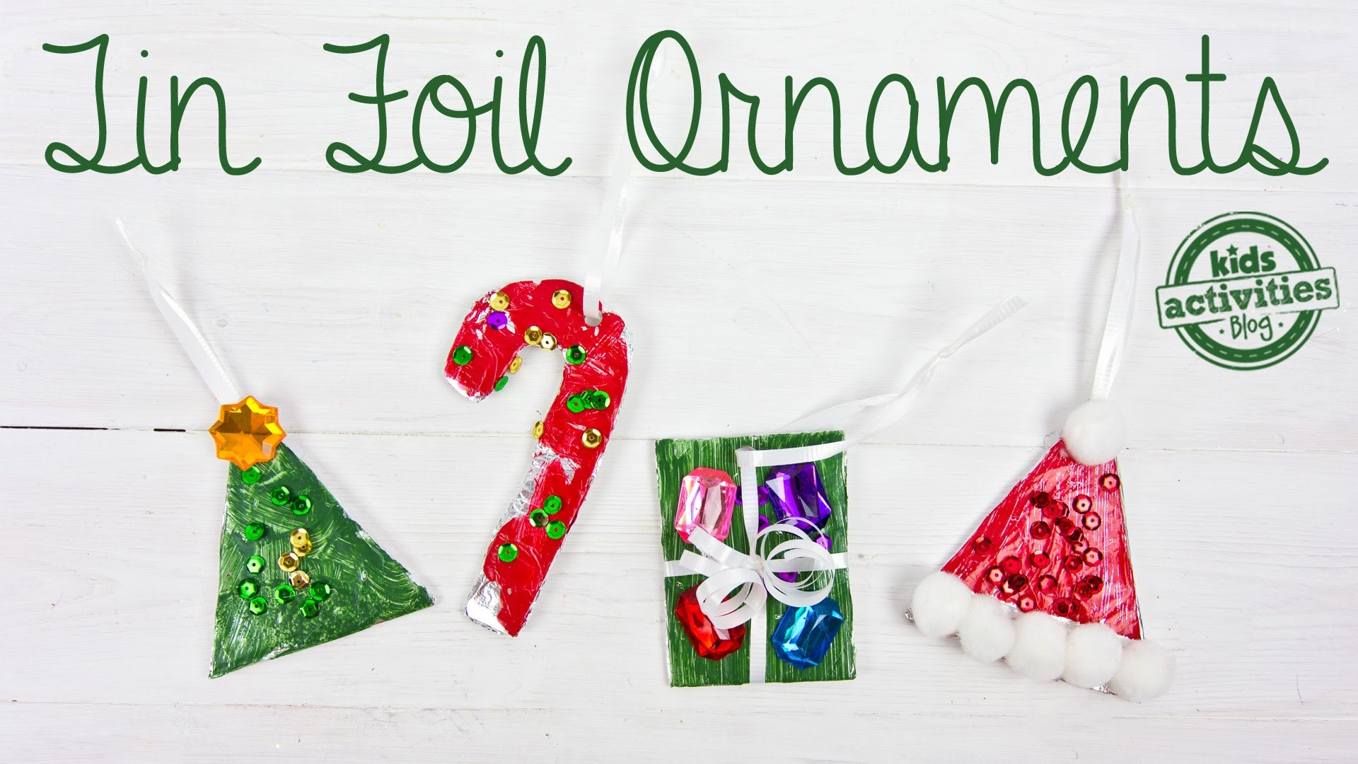 Tin Foil Christmas Ornaments for Kids