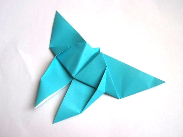 A simple origami butterfly