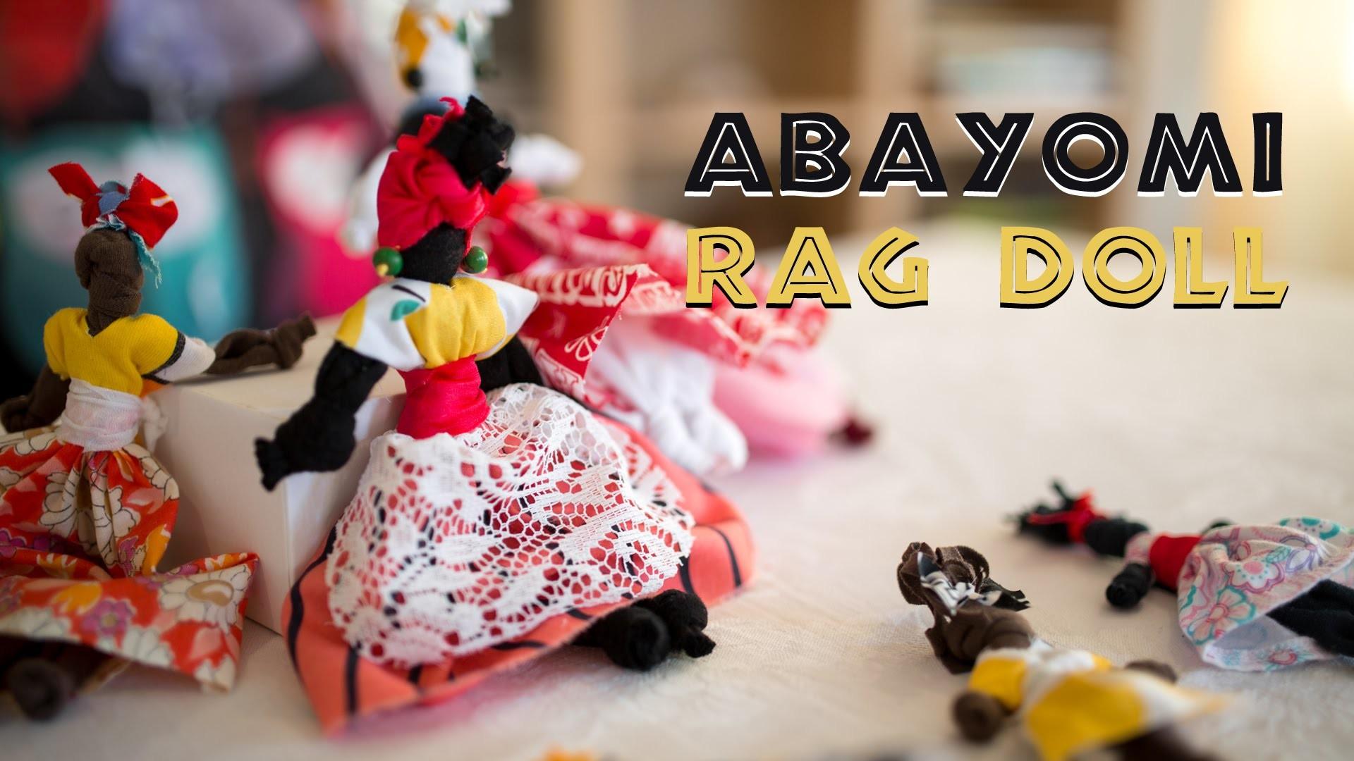 Abayomi Doll Activity - (African Craft Gift Idea)