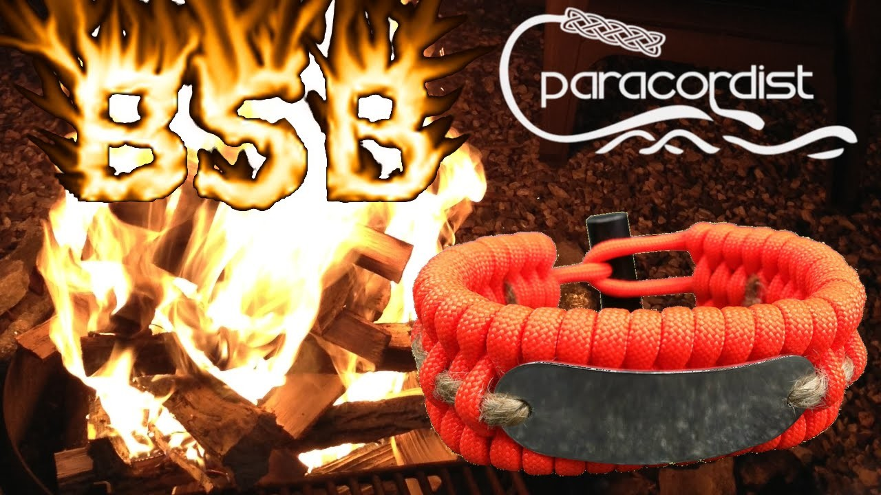 Best Survival Bracelet TO MAKE FIRE, not how to make paracord bracelet (Cobra Weave) or Solomon Bar