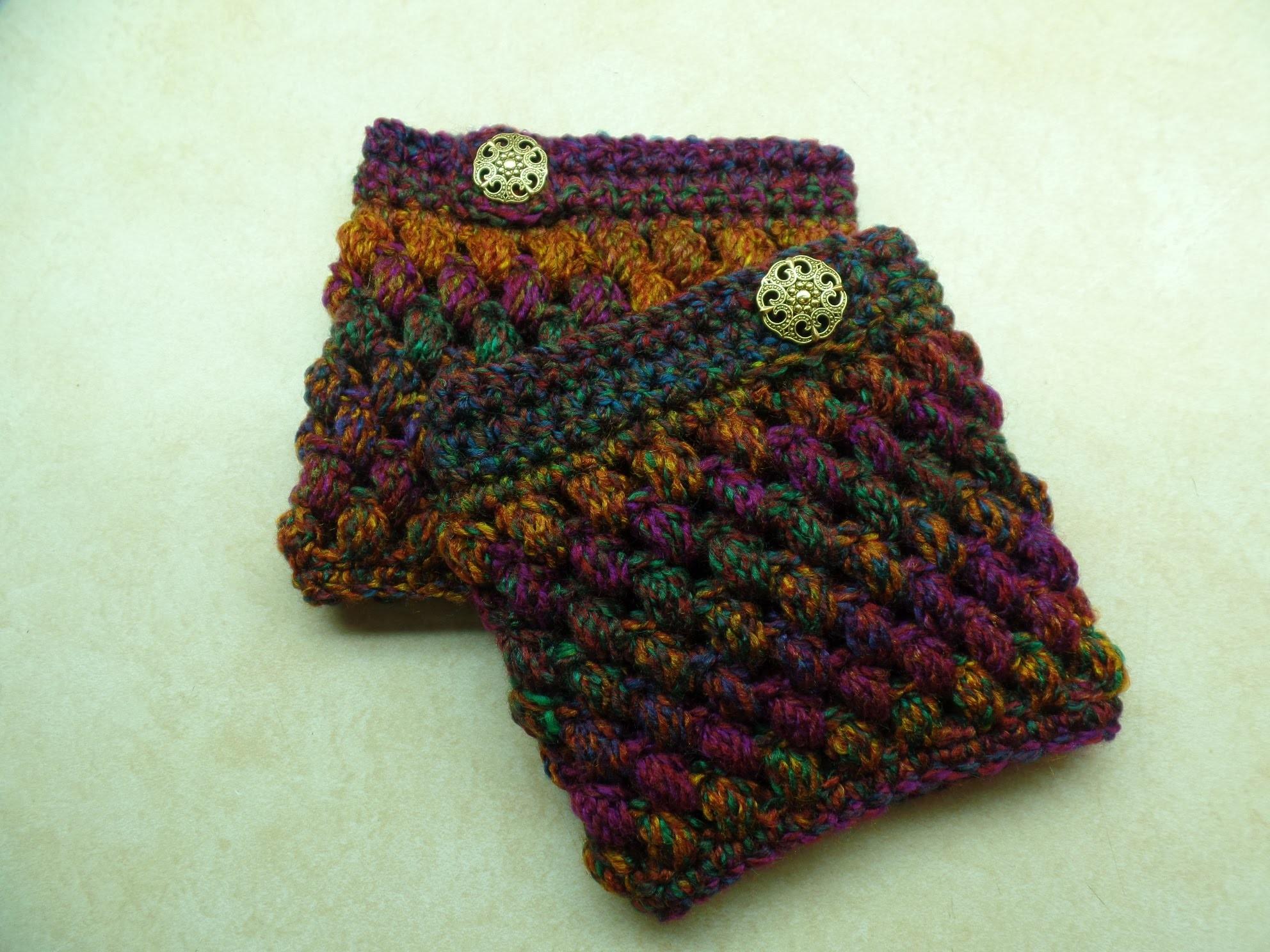 #Crochet Puff Cuffs Puff Stitch Boot Cuffs #TUTORIAL