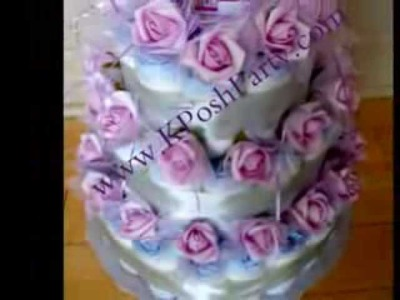 Diaper Cakes Canada, Baby Clothes Bouquets Canada, Baby Showers Canada