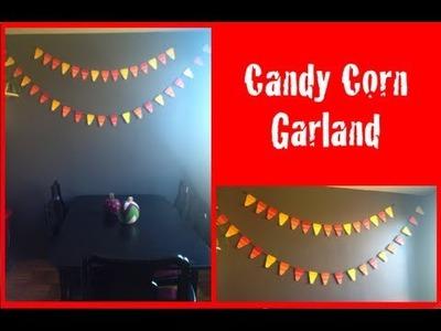 DIY: Candy Corn Garland ♡ Theeasydiy #Halloween Horror