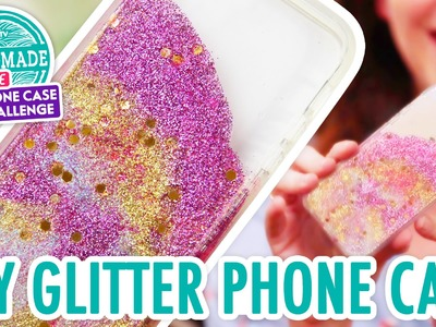 DIY Colorful Glitter Phone Case - HGTV Handmade Phone Case Challenge