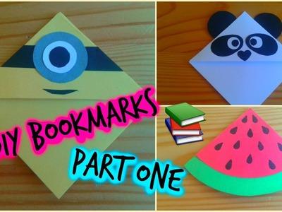 DIY Corner Bookmarks. Minion, Watermelon, Bunny, Panda, Kiwi and Orange