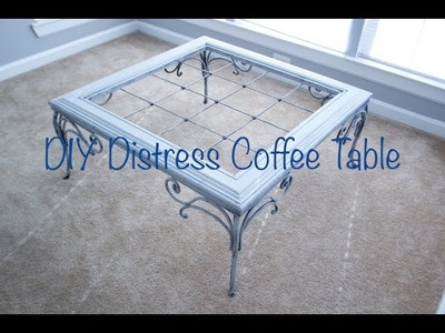 DIY Distress Coffee Table