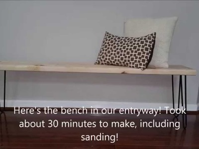 DIY Entryway Bench with Hairpin Legs