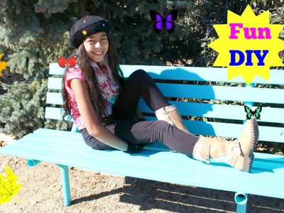 DIY Painting a Bench Colorful and Super Easy|B2cutecupcakes