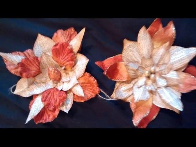 DIY Vintage book paper Autumn.Fall Christmas Flower decoration