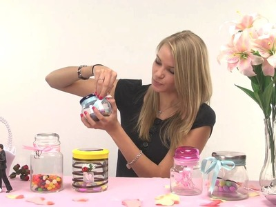 Do it yourself wedding favor decorations for candy jars!