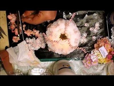 Elegant Shabby Chic Altered Pumpkin - jennings644