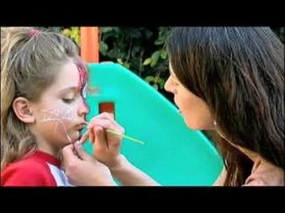 Face Painting for Birthday Parties : Painting a Spider Web on Cheeks