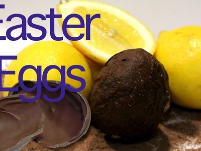 How to make a chocolate Easter egg mold with a lemon