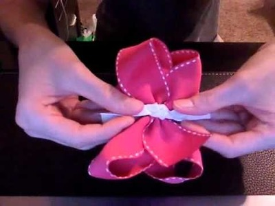 "HOW TO: Make a Knot Using 7.8"" Ribbon for the Center of the Hair Bow by Just Add A Bow"