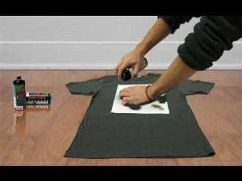 How to make a stencil t-shirt. CIOOMOYOKO.com